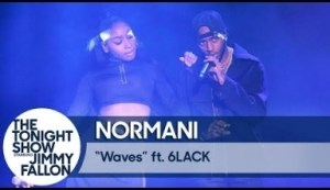 """Normani & 6lack Perform """"waves"""" On The Tonight Show"""